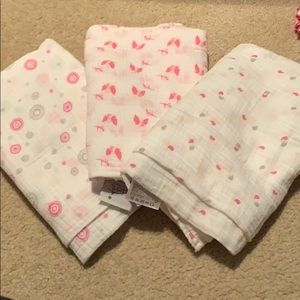 Aden & Anais Muslin Swaddle Blankets, Set of 3